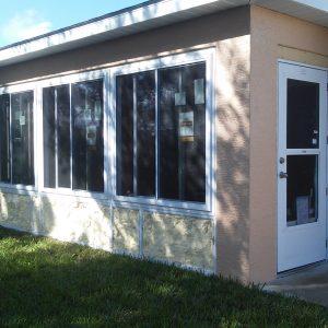 In progress insulation installed - White Window sunroom