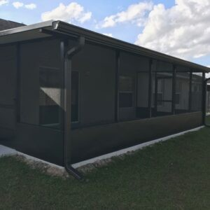 Finished Screen Enclosure with Insulated Patio Roof and new Concrete in Ocala.